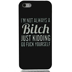 I'm not Bitch Pattern Hard Case for iPhone 5/5S