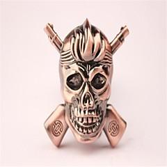 crâne en métal de bronze adulte jouets légers