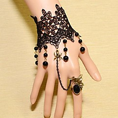 European Style Vintage Lace Bracelet with Ring