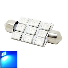 41mm 2W 9x5050 SMD LED 180lm Blue Lights Festoon Dome Reading Map License Plate Light Bulb for Car (DC 12V)