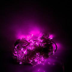 10m 100 leds julen halloween dekorative lys festlige lysstofrør-almindeligt lys streng lys rosa (220V)