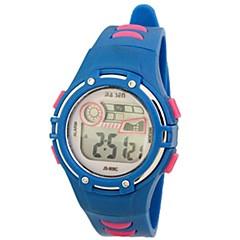 kvinnors sportig digital silikonband armbandsur (blandade färger)