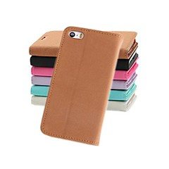 Fashion Wallet Style PU Leather Full Body Case with Stand and Card Slot for iPhone 4/4S (Assorted Colors)