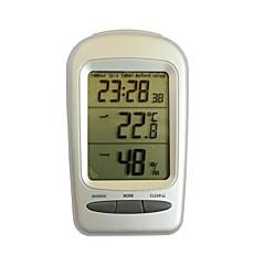 """qf665 multifonctions 2,8 """"écran LCD thermomètre hygromètre - argent + gris"""