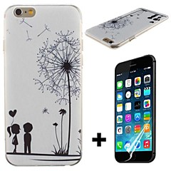 Dandelion and Lovers Pattern Hard with Screen Protector Cover for iPhone 6