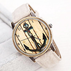Women's Restoring Ancient Ways Boat Anchor Dial PU Band Quartz Analog Wrist watch (Assorted Colors)
