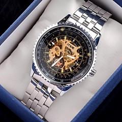 남자 시계 디자인 3 년 반 바늘 스틸 벨트 자동 기계식 시계 d0239