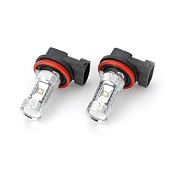 Marsing® High Power H11 30W 2800LM 6*LED 6500K White Light Car Fog / Head Light (12V / 2pcs)