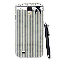 utsökta färgglada band mönster pc hårt fodral med en penna till Samsung Galaxy s4 i9500