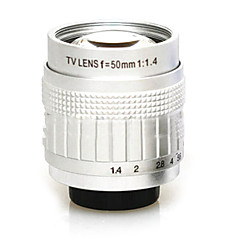 Second-hand C-Mount 50mm F1.4-F16 CCTV Lens on Micro 4/3(Silver,Series 1)