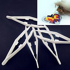 Λευκό εργαλείο πλαστικό τσιμπιδάκι 1pcs για χάντρες ασφάλεια hama diy safty παζλ για τα παιδιά σκάφος