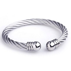 Men's Fashion Personality Titanium Steel Opening Steel Wire Bracelets Jewelry