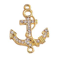 Alloy Gold Plated Anchor Connectors for Bracelet