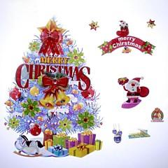 42 * 26cm fantaisie Décoration de Noël arbre autocollants