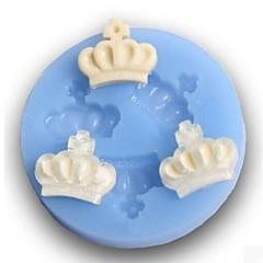Three Crown Baking Fondant Cake Choclate Candy Mold,L6.8cm*W6.8cm*H1cm
