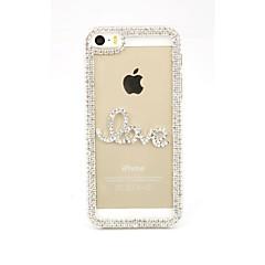 Diamond Rhinestone Pearl LOVE Back Case for iPhone 5/5S