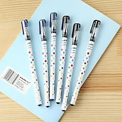 Colorful Dot Pattern Black Ink Gel Pen