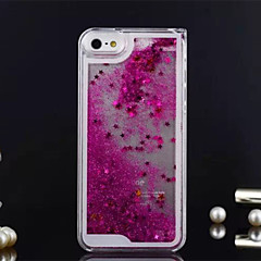 Star with Water Style Transparent PC Case for iPhone 5/5S(Assorted Colors)