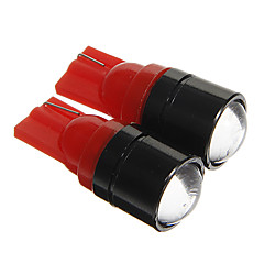 T10 1.5W COB 120LM Red Light LED Bulbs for Car Instrument/Side Marker Lamp(DC12V 2pcs)