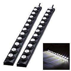 Merdia 1W 75LM 12x5050SMD LED White Light High Performance LED Waterproof Daytime Running Light