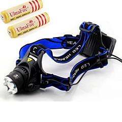 Cree XM-l T6 førte cykel lys 1600 lumen zoomable taktisk forlygte med 2 stk 18650 batterier og AC-oplader
