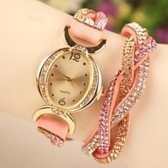 Women's Casual Style Full Rhinestone Band Quartz Analog Wrist Watch (Assorted Colors)