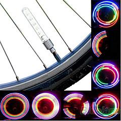1 пара Изменение Цвета газа алюминиевый сплав + лампа пластмассы безопасности для велосипеда