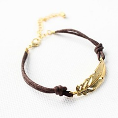 Alloy Golden Leaf Bracelet