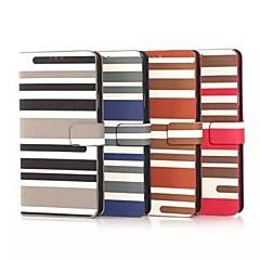 Mert Samsung Galaxy Note Kártyatartó / Állvánnyal / Flip / Minta Case Teljes védelem Case Vonalak / hullámok Műbőr Samsung Note 4