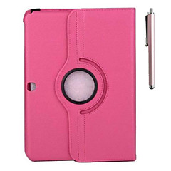 360 Rotatable Leather Lichee Pattern Case  and Pen with Stand for Samsung Tab 4 10.1 T530(Assorted Colors)