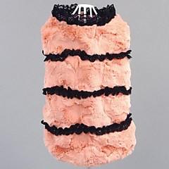 moda para mascotas dulce británico de piel imitación viento cálido suéter para mascotas perros (colores variados, tamaños)
