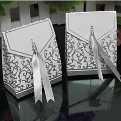 lureme 패션 배 구리 카드 사탕 상자 (실버, 골드) (100 개)