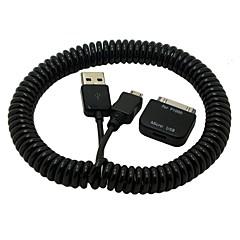 2.5m 8ft 30pin vrouwelijke micro usb adapter voorjaar intrekbare lader data kabel voor Samsung Galaxy Tab 10.1 s4 telefoon