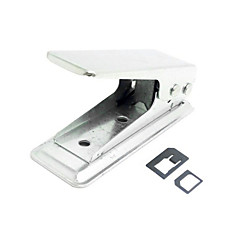 sim standard nano sim taglierina schede perforate con due micro a adattatore nano per iphone 5s 5 5c mini ipad