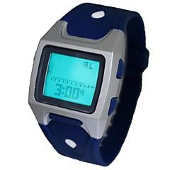 réveil multi-fonctionnelle montre sportive de poignet de bande de silicone numérique des hommes (couleurs assorties)