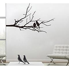 jiubai ™ boomtak en minnaar vogels muursticker muurtattoo