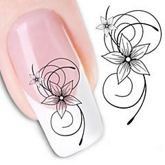 1 Nagelkunst sticker Wateroverdracht Sticker Bloem Abstract make-up Cosmetische Nagelkunst ontwerp