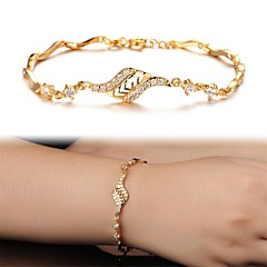 Beautiful 18 K Gold Plating Mosaic AAA Zircon Ms Gold Fine Bracelet