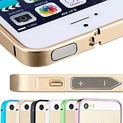 alumínio de aeronaves prémio dsb® 0,7 milímetros ultrafino capa slim case quadro pára-choques para iPhone 5 / 5s (cores sortidas)
