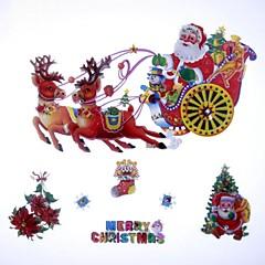42 * 39cm de fantaisie décoration de Noël Type de gharry autocollants de vitrine