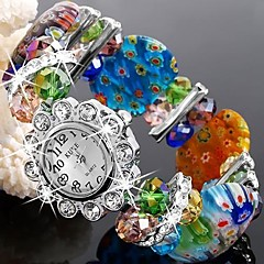 Flower-Shaped Woven Bracelet Fashion Watch/Wrist Watch Mixed Color (1Pc) Cool Watches Unique Watches