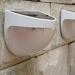 MLSLED® 1.2W 6-LED White Mini Waterproof Solar Powered Fence / Wall / Garden Lamp - White