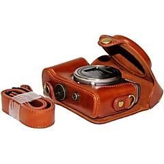 Pajiatu® PU Leather Oil Skin Camera Protective Case Bag Cover for Sony DSC-HX50V HX60 HX50 HX30 HX10 LCJ-HN