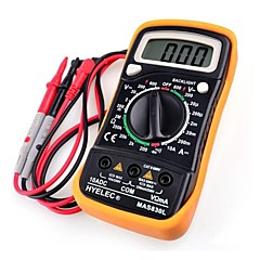 MAS830L HYelec dc multímetro digital medidor de resistencia de ac / dc volotage actual portátil w / luz de fondo