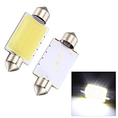 Merdia Festoon 2W COB 6000K 110LM 41MM 12SMD LED Cool White Light for Car License Plate Light / Reading Lamp - (2 PCS)