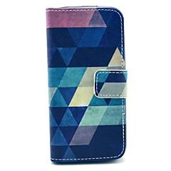 geométrica figura padrão de couro pu caso completo multicolor clássico corpo para iPhone 5 / 5s