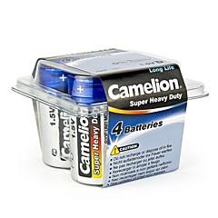 Camelion Super Heavy Duty D Size Battery in Plastic Box of 4 PCS