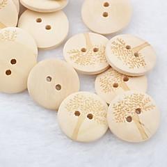 árvore padrão recados scraft costura botões de madeira diy (10 peças)