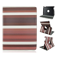 Fashion Color Stripe Pattern PU Leather Full Body Case with Stand  for iPad 2/3/4