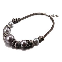 moda grande pérola de liga preta colares gargantilha (1 pc)
